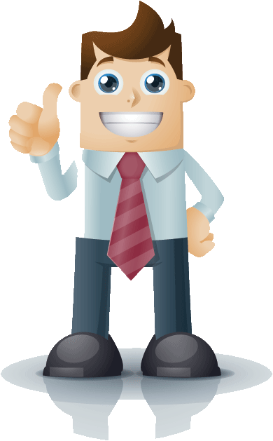 Payday loans advice man with thumbs up